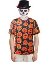 SSLR Men's Fun Crewneck Casual Short Sleeve Halloween T-Shirt