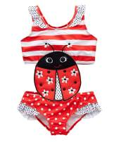 kavkas Baby/Toddler/Infant Rash Guard Swimsuit for Girl One Piece Bathing Suit Cute Cartoon Bikini (12M-8T)