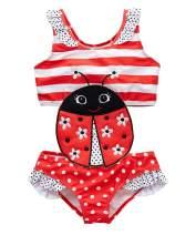 kavkas Baby/Toddler/Infant Rash Guard Swimsuit for Girl One Piece Bathing Suit Cute Cartoon Bikini (12M-8T)