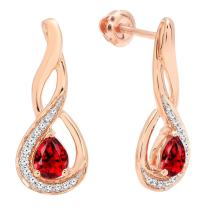 Dazzlingrock Collection 10K Ladies Infinity Drop Earrings, Rose Gold