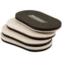 """SuperSliders 4705295N Reusable XL Heavy Furniture Sliders for Hardwood Floors- Felt Floor Protectors, 9-1/2"""" x 5-3/4"""" Linen (4 Pieces)"""