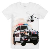 Shirts That Go Little Boys' Police Car and Helicopter T-Shirt