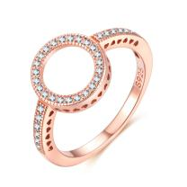 Presentski Hearts of Halo Ring Rose Gold Diamond 925 Sterling Silver with 5A Cubic Zirconia Engagement Ring for Women