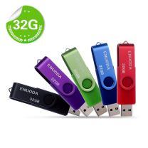 5 Pack 32GB USB 2.0 Flash Drive ENUODA Thumb Drive Memory Stick Jump Drive Zip Drives Pen Drive 5 Mixed Colors