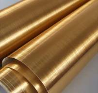 Gold Stainless Steel Contact Paper Self-Adhesive Cleanable Removable Peel and Stick 17.71in X 78.7in Refrigerator Speaker Dryer Cabinet Oven Appliances Furniture Renovation Bathroom Kitchen Bedroom