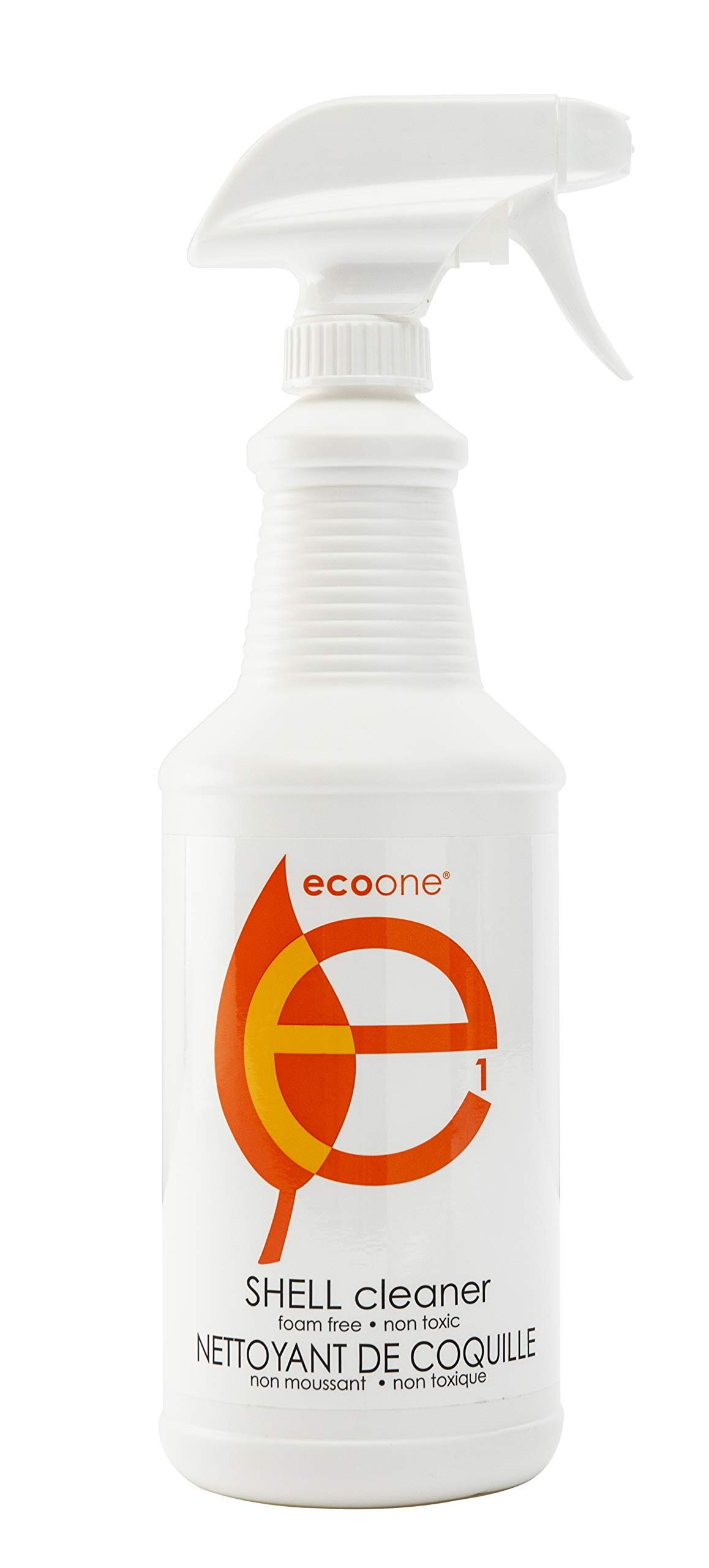 EcoOne | Hot Tub & Spa Shell Cleaner | Natural, Eco Friendly Spa & Pool Care Supplies | Hot Tub Maintenance & Cleaning Chemicals | Foam-Free Cleanser | 32 oz Spray Bottle