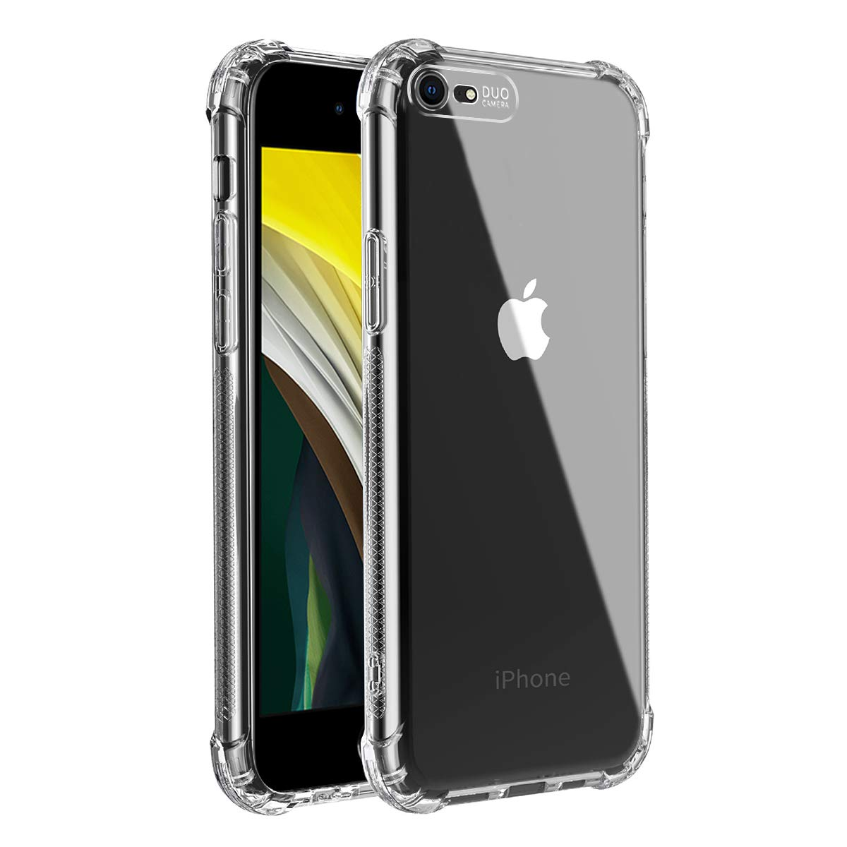 Mikikit Transparent Phone Case for New iPhone SE 2, Thin Clear Case for iPhone SE 2 Crystal Clear Case Soft TPU Cover with 4 Corners Drop Protection Bumper Protective Case for iPhone 7/8/SE 2020