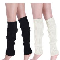 Womens 80s Ribbed Leg Warmers - Juniors 80s Eighty's Knitted Crochet Long Sock Yoga Sport Ballet Accessories