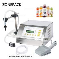 ZONEPACK Liquid Filling Machine Pump Numerical Filler Digital Control Drink Water 5ml to 3500ml GFK160 (Machine With One Extra Tube)