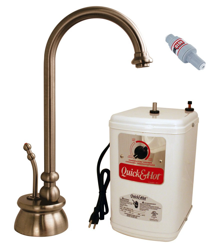 """Westbrass D261HFP-11 Calorah Traditional Hot Water Dispenser and Tank, 10"""", Antique Copper"""