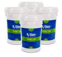 Rx Clear 3-Inch Stabilized Chlorine Tablets | Four 50-Pound Buckets | Use As Bactericide, Algaecide, and Disinfectant in Swimming Pools and Spas | Slow Dissolving and UV Protected