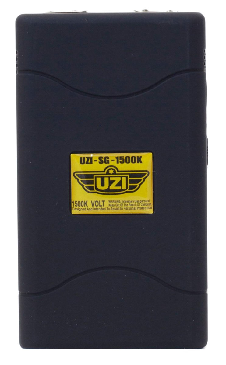Uzi 1.5-Million-volt Rechargeable Stun Device, Black