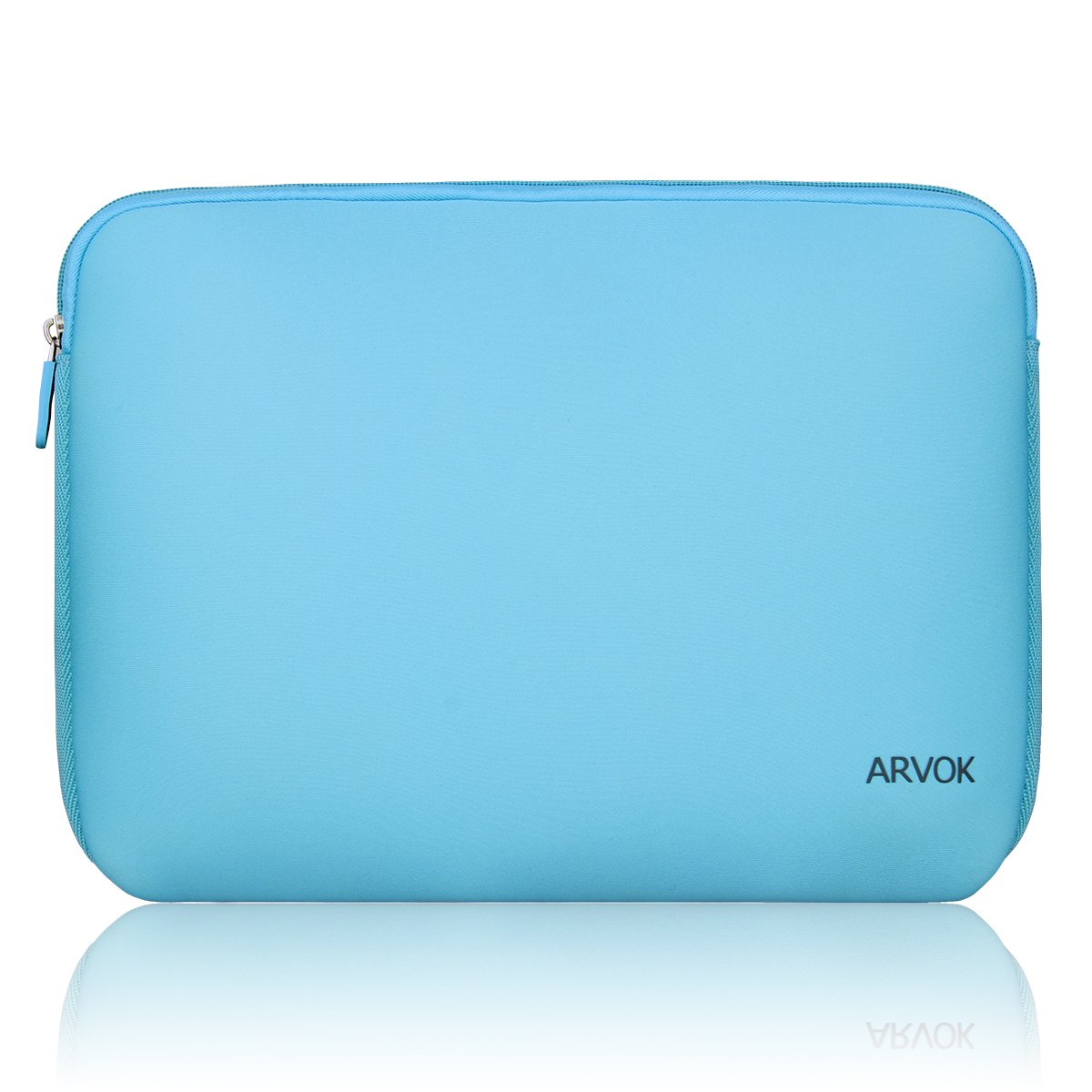 Arvok 13-14 Inch Laptop Sleeve Multi-Color & Size Choices Case/Water-Resistant Neoprene Notebook Computer Tablet Carrying Bag Cover, Baby Blue
