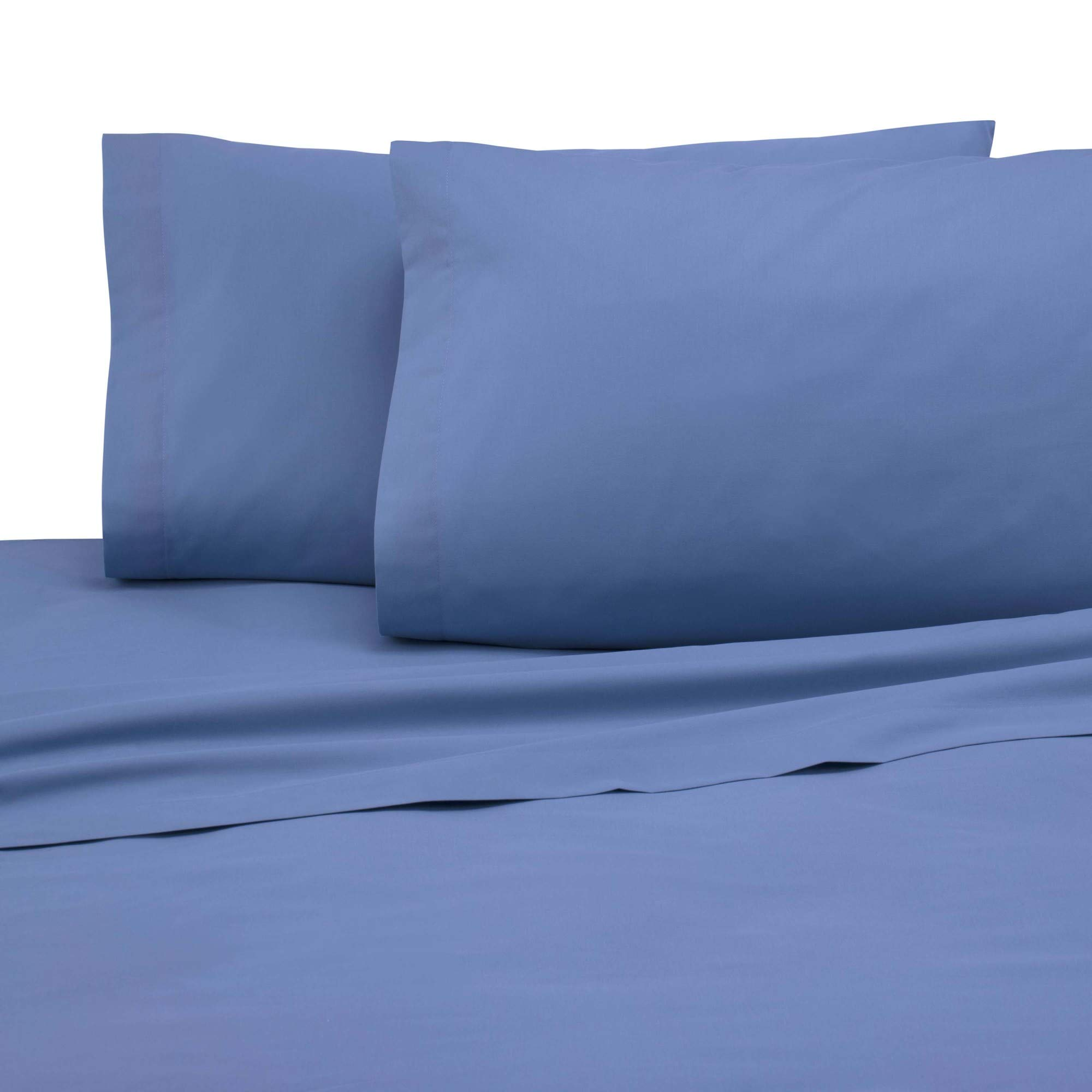 Martex Cotton Rich Pillowcase Pair - Brushed Cotton Blend, Super Soft Finish, Wrinkle Resistant, Quick Drying,  Bedroom, Guest Room  - 2-Piece Standard Pillowcase Pair, Ceil Blue