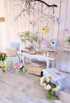 AOFOTO 4x6ft Easter Elegant Interior Decor Background Spring Flowers Furniture Photography Backdrop Photo Shoot Studio Props Kid Baby Adult Girl Artistic Portrait Vinyl Wallpaper