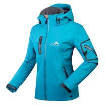 CIKRILAN Women's Windproof Softshell Outdoor Jacket Water Resistant Hooded Sportswear