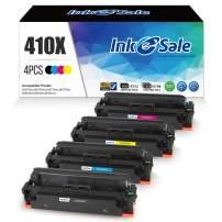 INK E-SALE Compatible Toner Cartridge Replacement for HP 410X CF410X 410A CF410A (KCMY, 4 Packs), for use with HP Color Laserjet Pro MFP M477fdn M477fnw M477fdw M477 M452nw M452dn M452dw M452