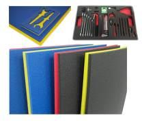 "5S Tool Box Shadow Foam Organizers (2 Color) FITS Craftsman Model# 110015 (18.5"" x 31.875"", Black Top/Yellow Bottom)"