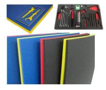 "5S Tool Box Shadow Foam Organizers (2 Color) FITS Craftsman Model# 110015 (18.5"" x 31.875"", Black Top/Red Bottom)"