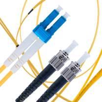 LC to ST Fiber Patch Cable Single Mode Duplex - 15m (49.2ft) - 9/125um OS1 / - Beyondtech PureOptics Cable Series
