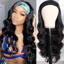 Kbeth Long Body Wave Headband Wig Glueless Synthetic Headband Wigs Heat Resistant for Black Women 180% Density Natural Looking Headband Wig 22 Inch