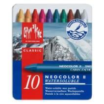 Caran d'Ache Classic Neocolor II Water-Soluble Pastels, 10 Colors