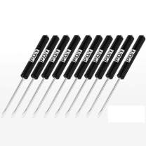 PQY 10pcs Mini Tops And Pocket Clips Pocket Screwdriver Strong Magnetic Slotted Screwdriver (black)