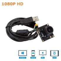"""Arducam 1080P HD Wide Angle WDR USB Camera Module for Computer, 2MP 1/2.7"""" CMOS AR0230 100 Degree Mini UVC USB2.0 Webcam Board with 3.3ft/1m Cable for Windows, Linux, Mac OS, Android"""