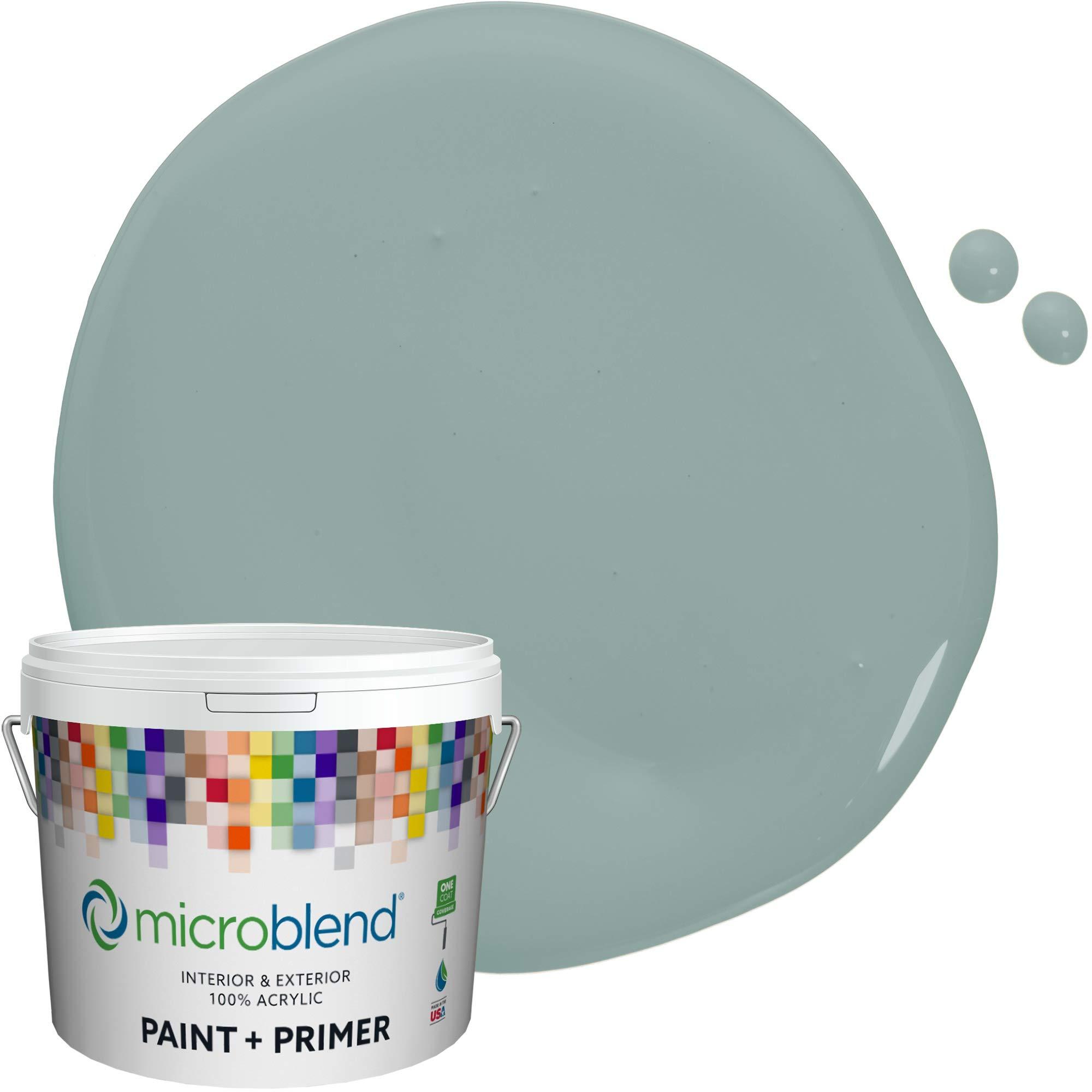 MicroBlend Interior Paint + Primer, Fresh Aqua, Flat Sheen, 1 Gallon, Custom Made, Premium Quality One Coat Hide & Washable Paint (73212-2-M1466B3(C))