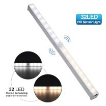 LED Under Cabinet Lighting Elfeland 32 LED Motion Sensor Closet light Stick-on Anywhere Night Light Magnetic/Screws Wireless Battery Powered Cabinet lights for Kitchen Closet Cupboard (3000 K/6000 K)