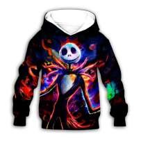 PLstar Cosmos Jack Nightmare Halloween Christmas Kids Teen Boy's Galaxy Novelty Hoodies Costume Hoodie
