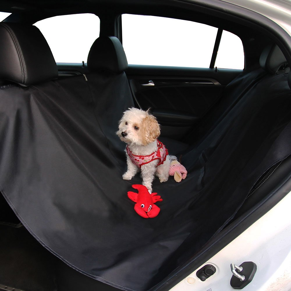 FH Group FH1009 Waterproof Backseat Cover/Protector for Pets (Black) – Universal Fit for Cars Trucks & SUVs