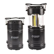 2 Pack Portable Outdoor COB Camping Lantern with LED Torch Flashlight, Water Resistant Collapsible Tent Light with Adjustable Hook for Hiking,Emergencies,Hurricanes,Outages(Batteries Not Included)