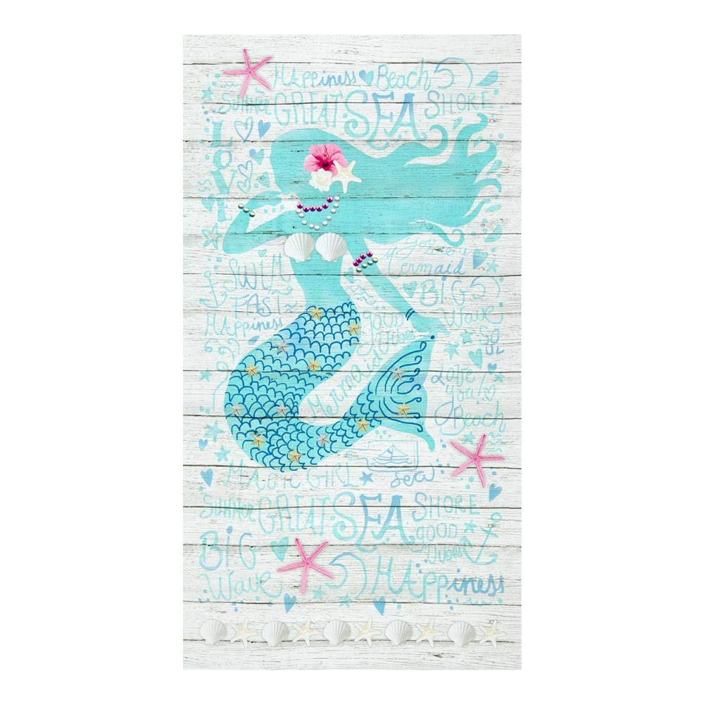 Timeless Treasures 24'' Mermaid Panel Sand