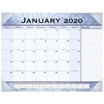"AT-A-GLANCE 2020 Desk Calendar, Desk Pad, 21-3/4"" x 17"", Standard, Slate Blue (89701)"