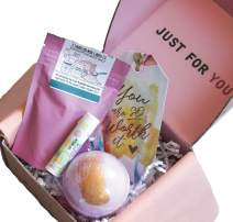 Special Birthday Gift Basket Box Set for Her- Unique Gift Basket Box for Mom,Wife,Friend,Aunt,Sister- Mothers day gifts (Spa Box)