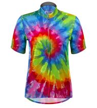 Women's Peace Rider Tie Dye Hippie Cycling Jersey - Made in The USA