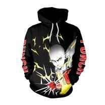 Memoryee 3D Naruto Anime Pattern Printed Pullover Hoodie Unisex Plus Size Outwear Lightweight Sweatshirt