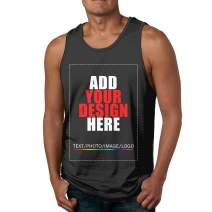 Men Custom Tank Tops Vest Tee, Design Your Own Shirt, Add Your Image Text