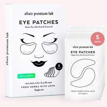 Under Eye Mask, Elixir Premium Hydrogel Patches - Collagen Under Eye Gel Pads, Puffy Eyes, Anti-Aging effect, Moisturizing Dark Circle Eye Treatment for Women & Men, Korean Under Eye Treatment, 5 pack