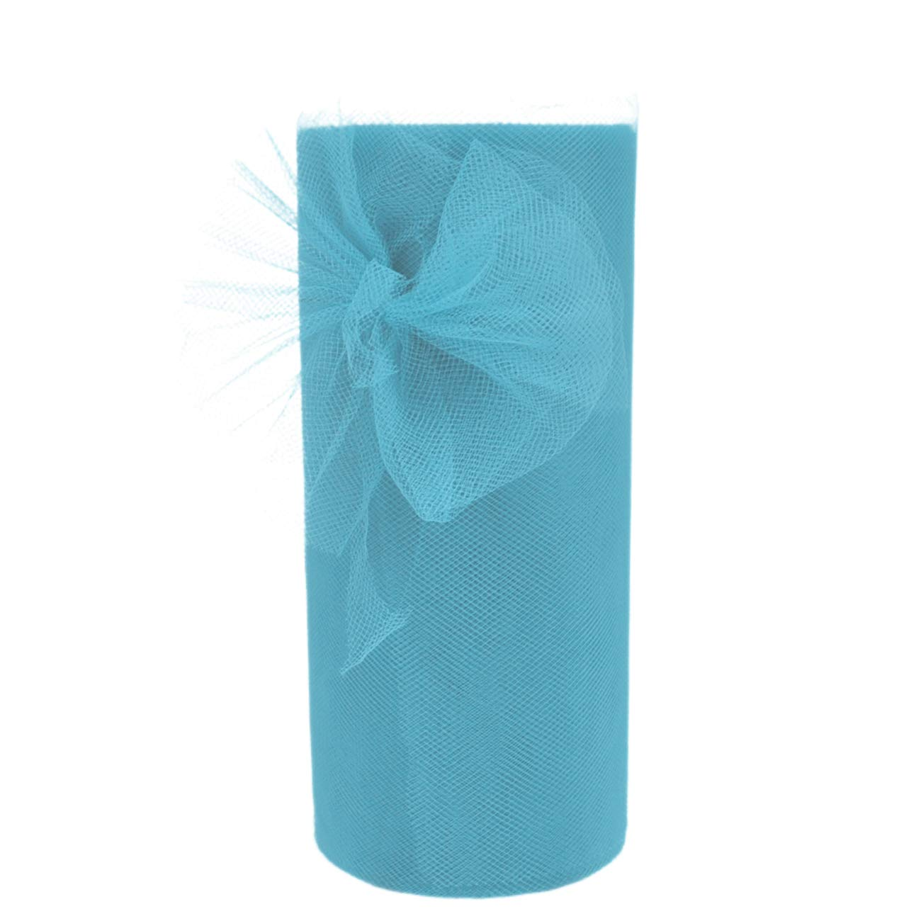 Tulle Rolls Light Blue Tulle Fabric Spool for Wedding Decorations Engagement Birthday Baby Shower Party Decoration High Chair Tutu Table Cake Skirt Making, Gift Wrapping Paper Tulle Ribbon(Light blue)