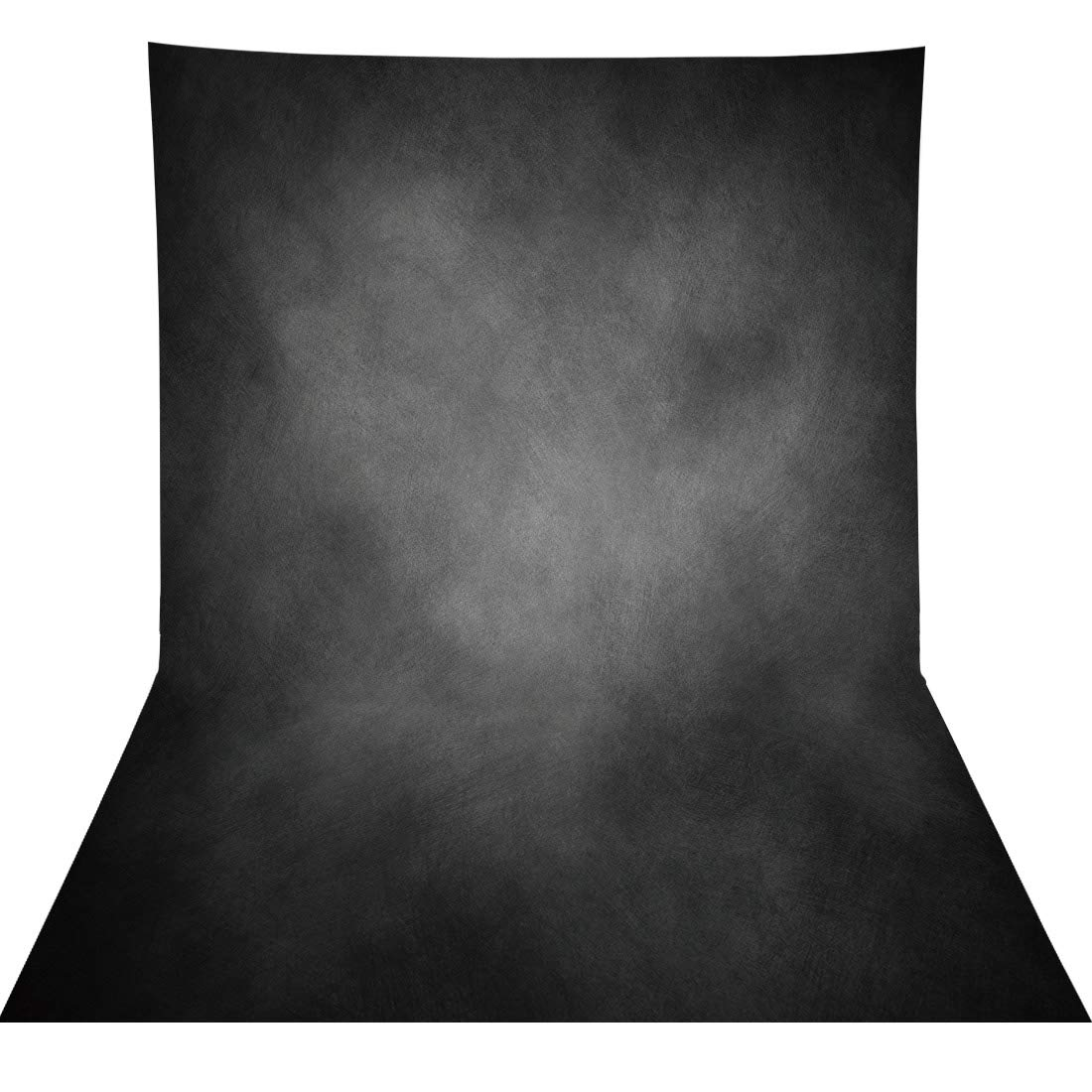 Allenjoy 5x7ft Fabric Black Vintage Grunge Photography Backdrop Supplies Old Master Abstract Texture Background Photographer Professional Portrait Pictures Photoshoot Props Favors Studio Booth Banners