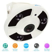 KKmoon 1.7mm Fisheye Panoramic Security CCTV Camera 1080P HD Security Camera Surveillance Camera Home Surveillance NTSC System