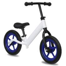 KingSo Kids Balance Bike with Footrest, Lightweight Kids Bike with Freely Adjustable Handlebar & Seat without Tools, EVA Polymer Foam Tire Toddler Bike for 1-5 Years Boys Girls (DIY Stickers Included)