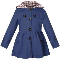 BINPAW Girl's Quilted Trench Coat