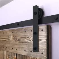 "TSMST 4FT Sliding Barn Door Hardware kit, Seamless Rail Barn Door Track for Single Door, Easy to Assemble, Smoothly and Quietly, Fit 24"" Wide Door Panel,I Shape Hanger"