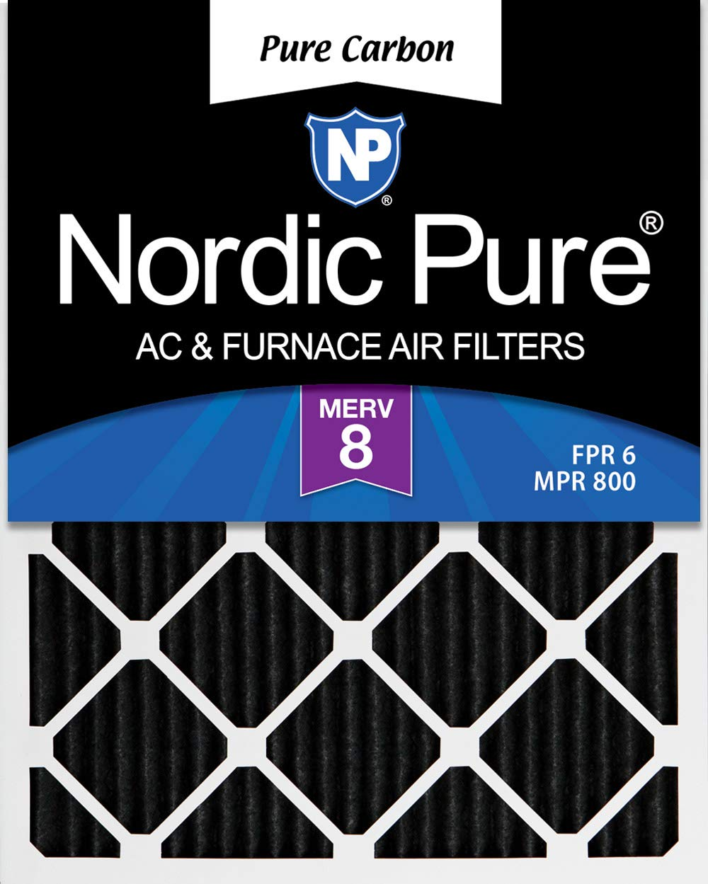 Nordic Pure 14x25x1 MERV 12 Pleated AC Furnace Air Filters 3 Pack