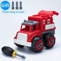 IJUSTBY Fire Truck-Assembly Toy Bulldozer with Constructions Set,Take Apart Toys Toddler Toys, Building Vehicle Play Set with Screwdriver, Ideal Educational Toys for Toddlers, Boys & Girls Aged 3+
