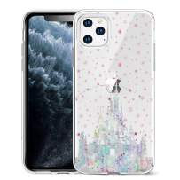 Unov Clear with Design for iPhone 11 Pro Case Slim Protective Soft TPU Bumper Embossed Pattern Cover 5.8 Inch (Watercolor Castle)