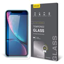 Olixar for iPhone XR Screen Protector - Case Friendly Tempered Glass - 9H Rated - Shock Protection - Easy Application, Card and Cleaning Cloth Included
